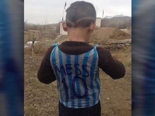Afghan boy might meet his hero, Lionel Messi
