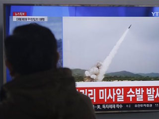 N. Korea missiles amid S. Korea war games