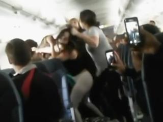 Blaring boom box spurs fight on airplane