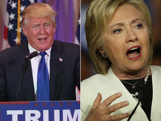 Trump sweeps 5 states, Clinton wins 4