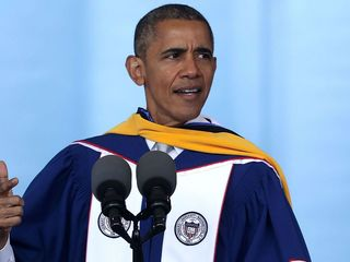 Obama tells grads to get out and vote