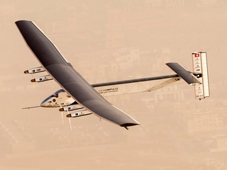 Solar-powered plane lands in NYC