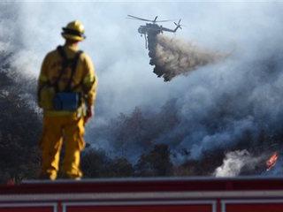 Crews make major gains against California fire