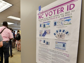 NC tries to keep discriminatory voting laws