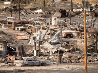 California wildfire burns 96 homes