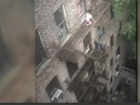 Scary video shows little girl on fire escape