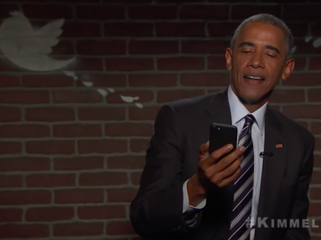 President Obama Laughs Off Trump, Reads Mean Tweets on 'Jimmy Kimmel Live!'