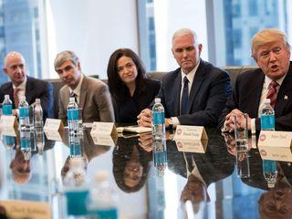 Trump is mending ties with tech giants