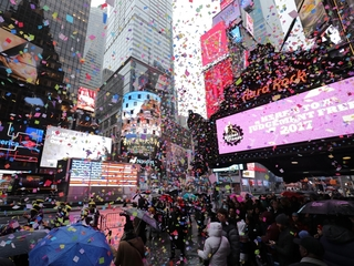 Garbage trucks to protect Times Square on NYE