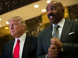 Steve Harvey meets with Trump