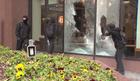 Downtown Washington DC protesters destructive