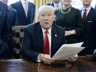 Leaked document at odds with Trump's travel ban?