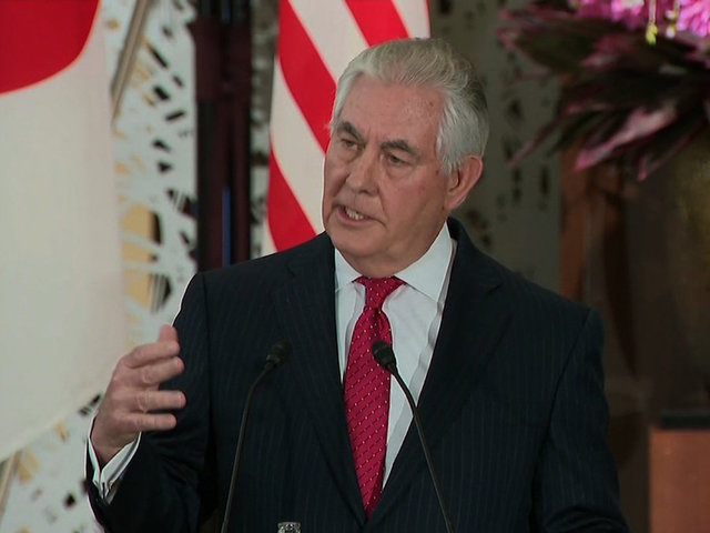 Tillerson To Press China On North Korea In Asia Trip