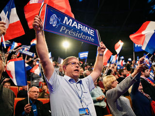 Macron, LePen lead French vote