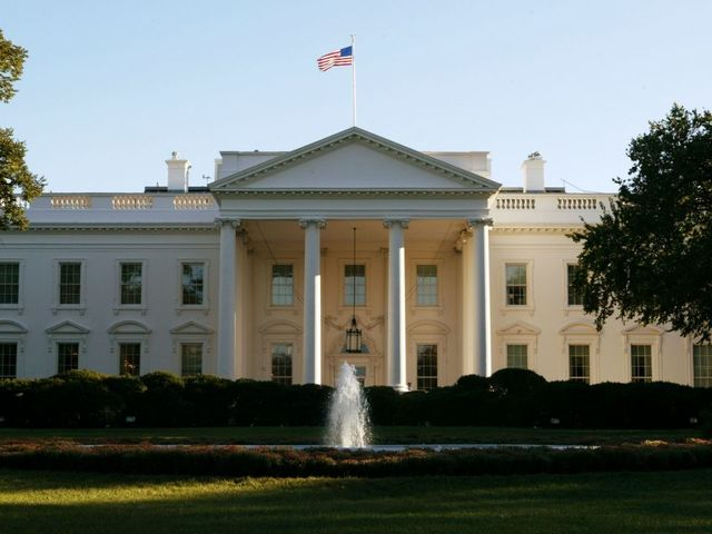 White House placed in lockdown after person jumps bike rack barrier