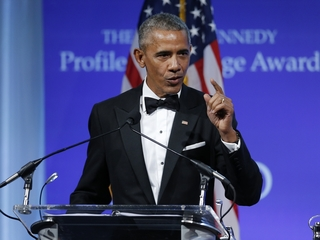 Obama defends legacy during acceptance speech
