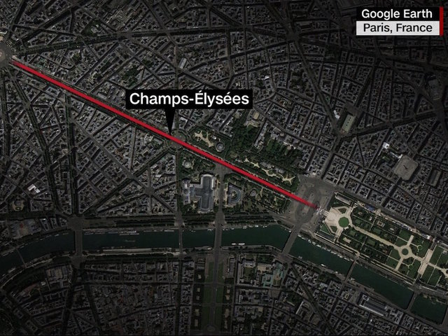 Paris police operation underway on Champs-Elysees