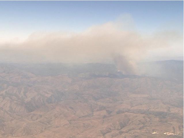 Smoke North of Phoenix From Fire South of Prescott