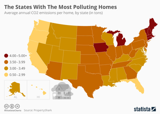 The states with the most polluting homes