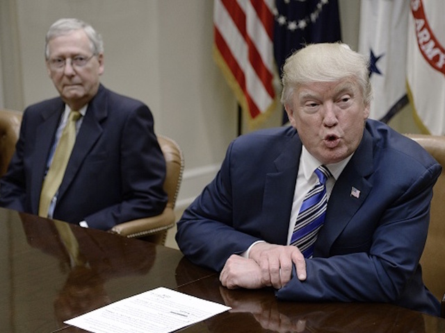 Trump hits McConnell for Senate crash of Obama health law repeal