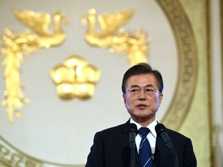 South Korea's president says there won't be war