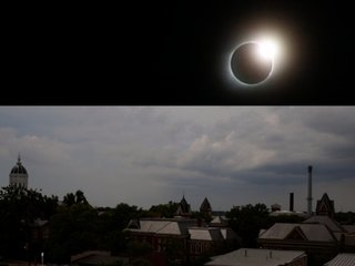 What you see and hear during an eclipse