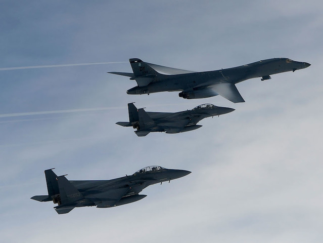 U.S. bombers fly near North Korean coast in demonstration of 'resolve'