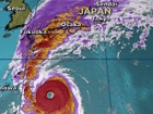 Massive typhoon heads toward Japan