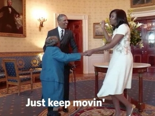 106-year-old dances with the Obamas