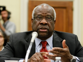 Justice Thomas speaks in court after 10 years