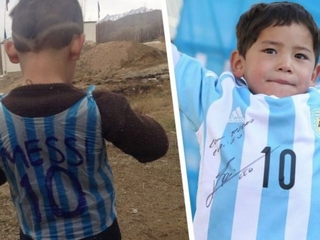 'Messi Boy' forced to flee Afghanistan