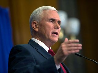 Gov. Mike Pence meets with Donald Trump