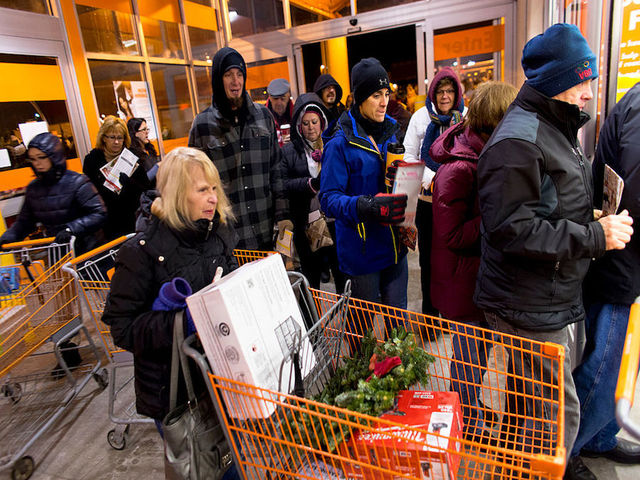 wi november 28 shoppers file into the store as they get their holiday shopping season going at the annual black friday sales event at the home depot