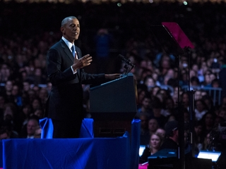 Obama gives farewell speech in Chicago