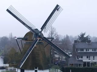 Dutch CEO makes announcement atop a windmill