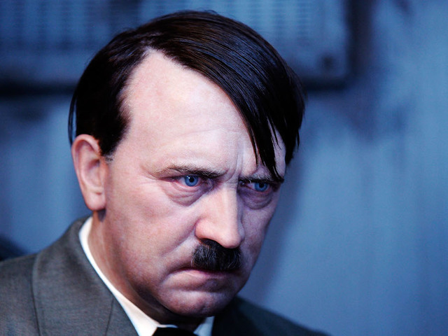 A Wax Model Of Adolf Hitler During The Final Days In The Fuehrer Bunker Is  Displayed An The Berlin Branch Of Madame Tussauds On July 2, In Berlin,  Germany.