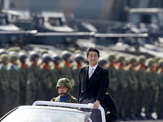 Japan's exit polls look good for Shinzo Abe