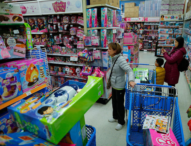 Shoppers Buy Gifts At The Toys R Us Store During Early Black Friday Events On November 24 2016 In Paramus New Jersey