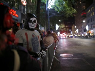 New Yorkers celebrate Halloween despite attack