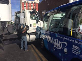 Self-driving shuttle crashes hours after launch
