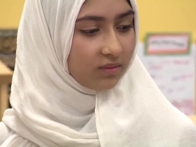 Khawlah Noman 11 says a man tried to cut off her hijab while she was walking to school in Toronto