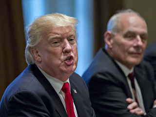 Trump contradicts Kelly on wall position