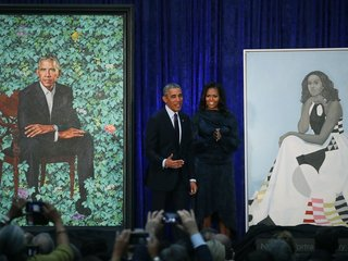 Obamas' official portraits have been unveiled
