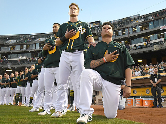 Bruce Maxwell says he will no longer kneel during national anthem