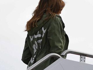 Melania dons jacket saying 'I really don't care
