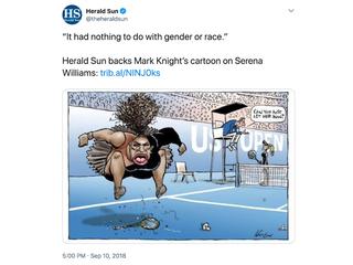 Newspaper defends racist Serena Williams toon